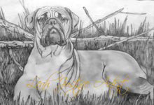 Load image into Gallery viewer, Pet Portrait Artist - Bullmastiff In Greylead