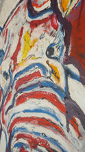 Load image into Gallery viewer, RED, BLUE AND YELLOW ELEPHANT - Original Artwork FOR SALE Oil Painting By Leah Justyce (BaVA)