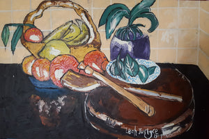 STILL LIFE ORANGES AREN'T LEMONS - Original Artwork FOR SALE Oil Painting By Leah Justyce (BaVA)