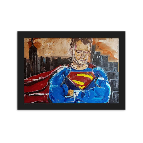 Superman Justice League Limited Edition Prints Of Original Oil Painting By Leah Justyce