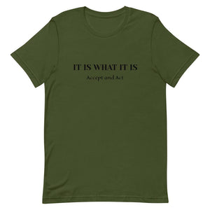 "Urban Justyce Clothing LIMITED EDITION ""IT IS WHAT IT IS"" Short-Sleeve Unisex T-Shirt"