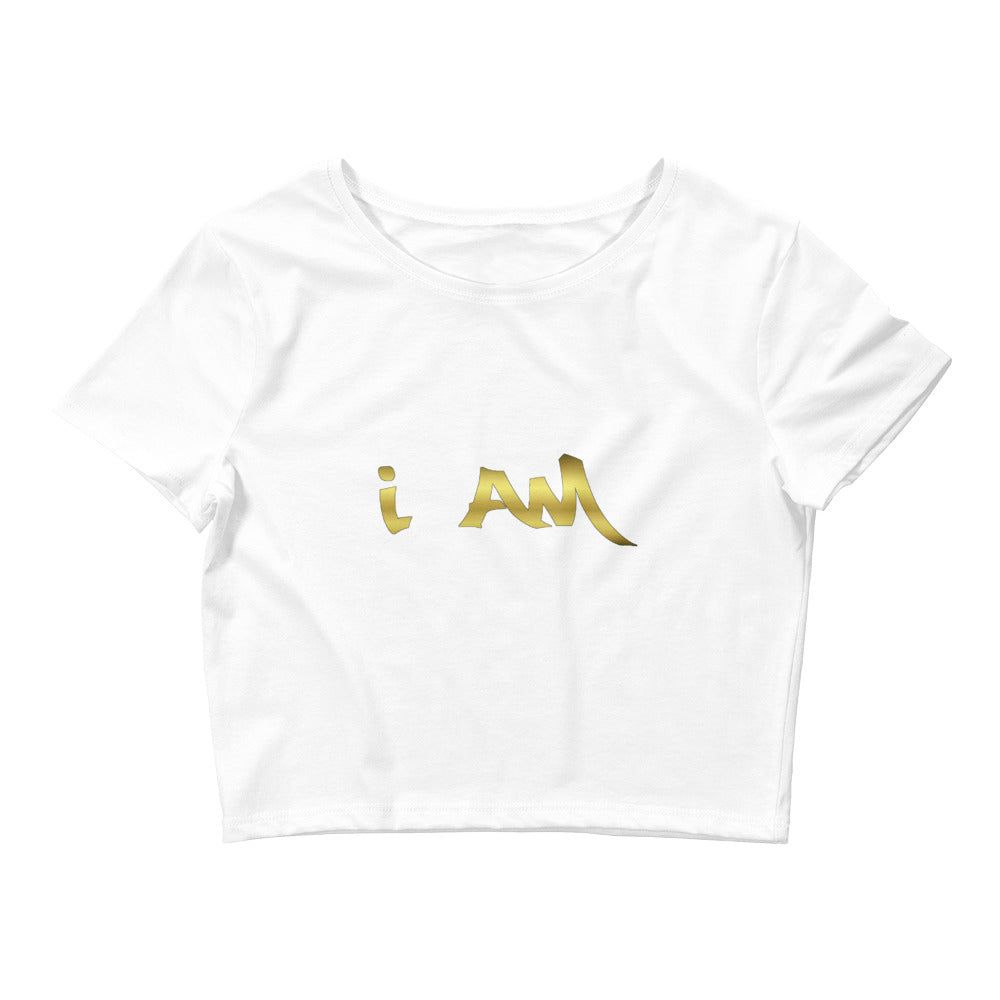 I AM Women's Crop Tee LIMITED EDITION By URBAN JUSTYCE CLOTHING
