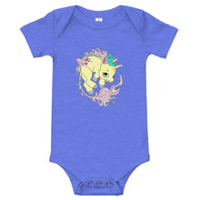 Load image into Gallery viewer, Yellow Baby Unicorn Baby One Piece Jumpsuit By URBAN JUSTYCE CLOTHING