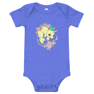 Yellow Baby Unicorn Baby One Piece Jumpsuit By URBAN JUSTYCE CLOTHING
