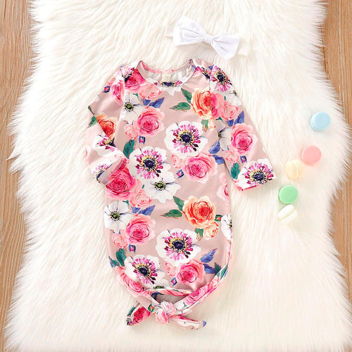 Newborn Mermaid Tie Swaddle With Headband or Hat Set