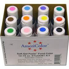 Americolor Soft Gel Paste Student Kit (12 Colours)