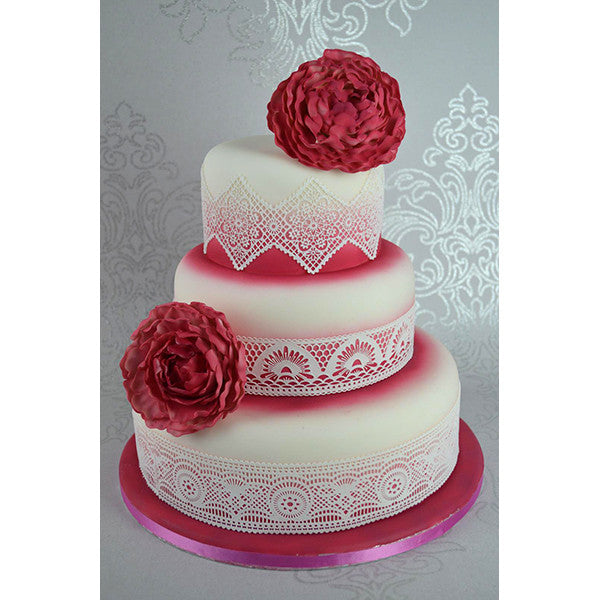 Sweet Lace Cake Decorating : Cake Lace Mats - by Claire Bowman   My Little Angel Cake ...