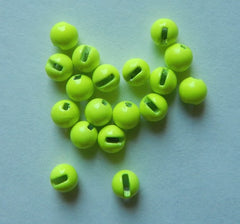 Beads Tungsten Slotted - Chartreuse