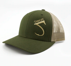 SYNDICATE OLIVE/KHAKI TRUCKER HAT