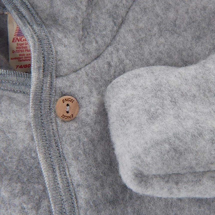 Merino Wool Fleece Overall - Light Grey