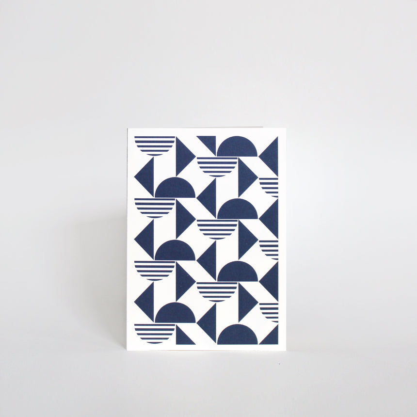 Amaretti Greeting Card - Navy