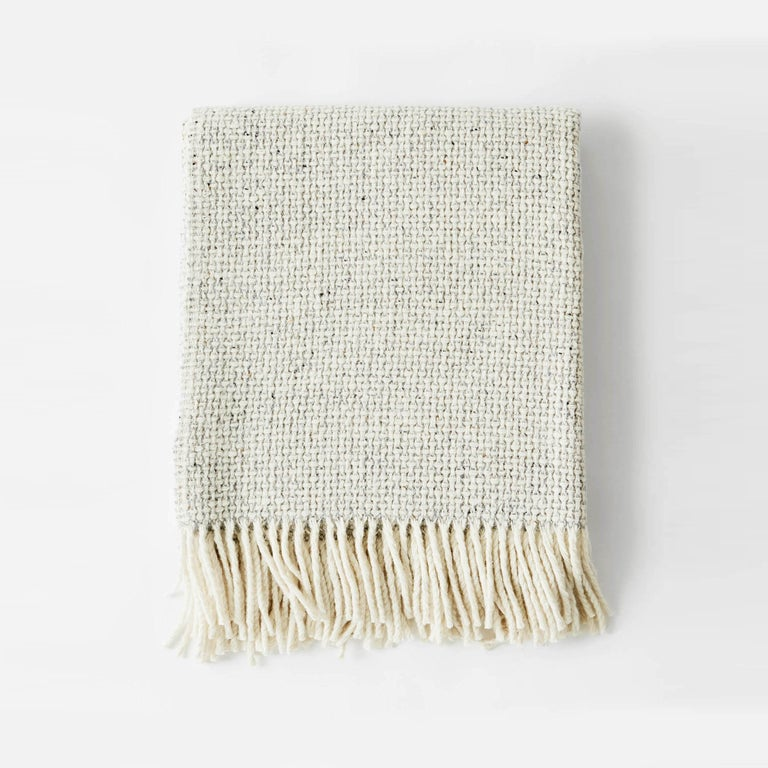 Mended Tweed Blanket - Silver Grey