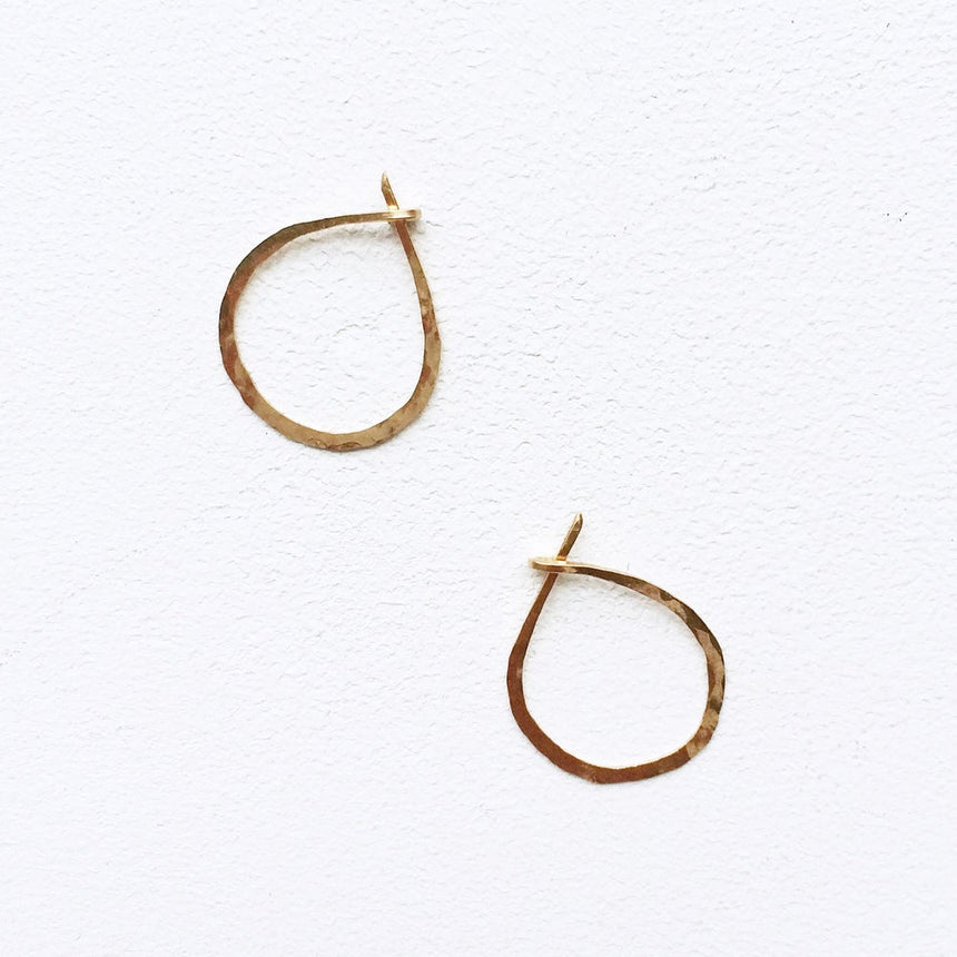 Hand Hammered Circle Earrings
