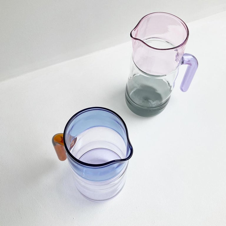 Three Colour Glass Jug