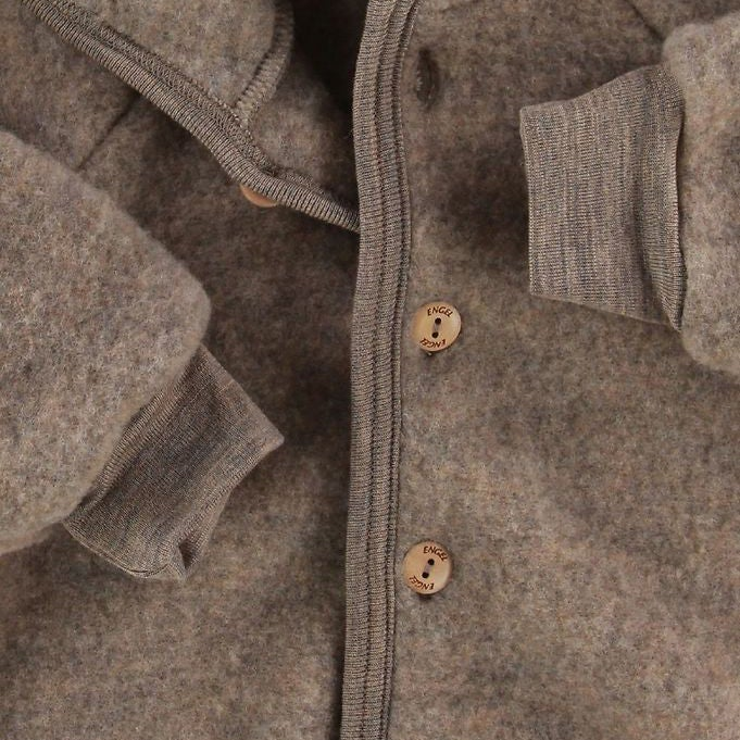 Merino Wool Fleece Jacket - Walnut