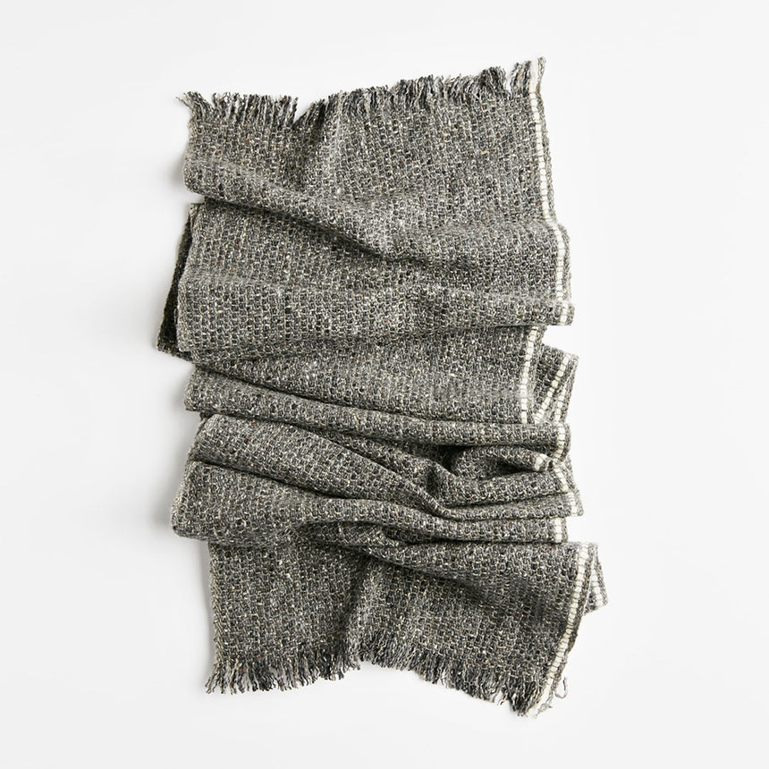 Tweed Scarf - Narrow, On the Road Single White