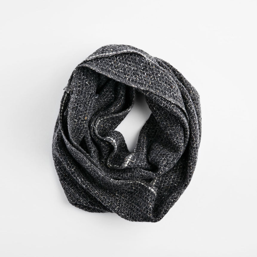 Tweed Neck Warmer - Single White