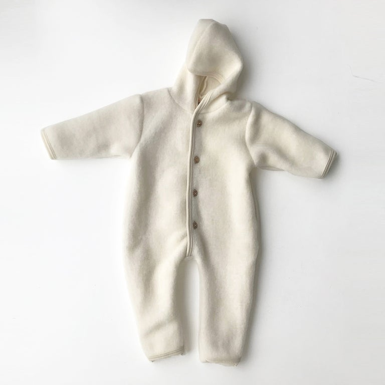 Merino Wool Fleece Overall - Natural