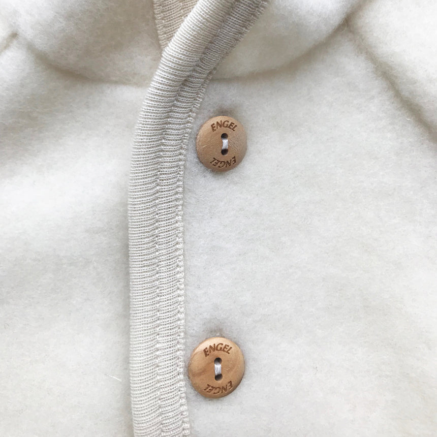 Merino Wool Fleece Jacket - Natural