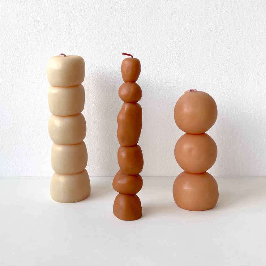 Sculptural Candles: Piu Set