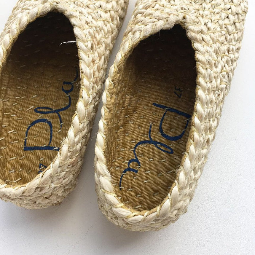 Jute Shoes - Natural