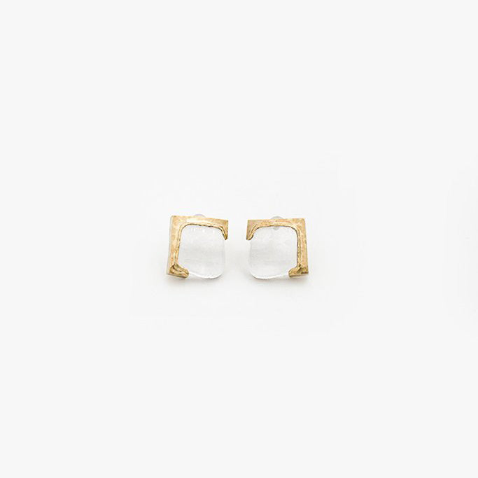 Glass Earrings: Square