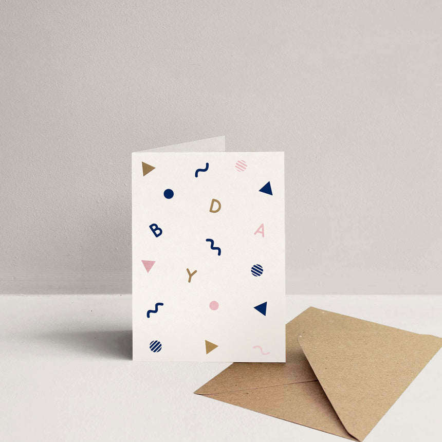 Confetti Greeting Card - Bday