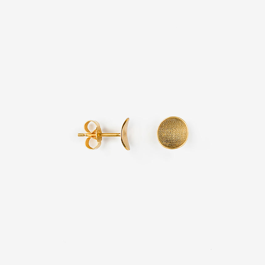 Stud Earring, Circle Curved