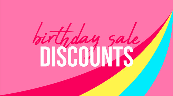 Birthday Sale Discounts