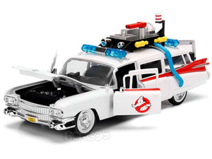 """Ghostbusters - ECTO-1"" Cadillac Ambulance 1:24 Scale - Jada Diecast Model Car"