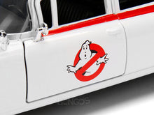 "Load image into Gallery viewer, ""Ghostbusters - ECTO-1"" Cadillac Ambulance 1:24 Scale - Jada Diecast Model Car"