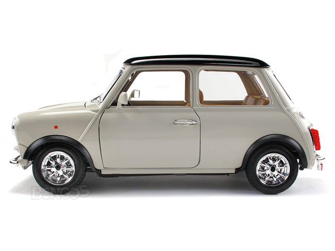 1969 Mini Cooper 1:16 Scale - Bburago Diecast Model (Cream)