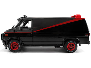 """A-TEAM"" 1983 GMC Vandura Cargo Van 1:18 Scale - Greenlight Diecast Model Car"
