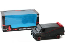 "Load image into Gallery viewer, ""A-TEAM"" 1983 GMC Vandura Cargo Van ""Weathered"" 1:18 Scale - Greenlight Diecast Model Car"
