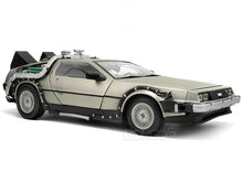 "Load image into Gallery viewer, Delorean ""Back To The Future Pt1"" 1:18 Scale - SunStar Diecast Model Car"