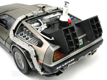 "Load image into Gallery viewer, Delorean ""Back To The Future Pt2 - Hover Version"" 1:18 Scale - SunStar Diecast Model Car"
