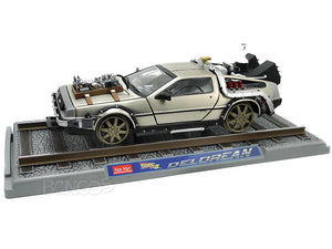 "Delorean ""Back To The Future Pt3 - RailRoad Version"" 1:18 Scale - SunStar Diecast Model Car"