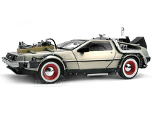 "Load image into Gallery viewer, Delorean ""Back To The Future Pt3 - Retro Version"" 1:18 Scale - SunStar Diecast Model Car"