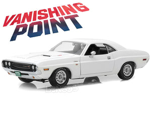 """Vanishing Point"" 1970 Dodge Challenger R/T 440 Magnum 1:18 Scale - Greenlight Diecast Model Car (White)"