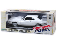 "Load image into Gallery viewer, ""Vanishing Point"" 1970 Dodge Challenger R/T 440 Magnum 1:18 Scale - Greenlight Diecast Model Car (White)"