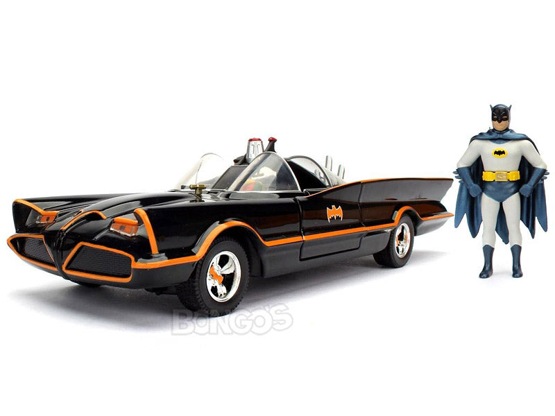 Batmobile - 1966 TV Version w/ Batman & Robin Figures 1:24 Scale - Jada Diecast Model