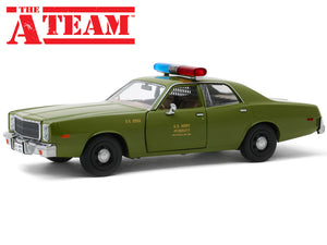 """The A-Team"" 1977 Plymouth Fury US 1:24 Scale - Greenlight Diecast Model Car"