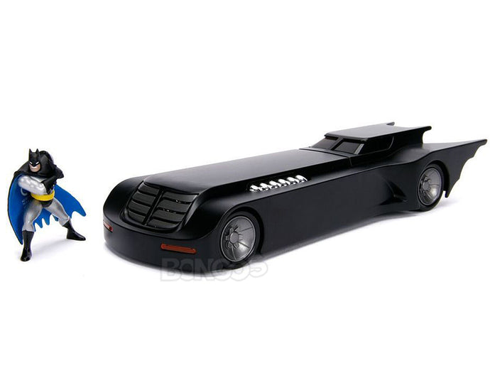 Batmobile - Batman The Animated Series w/ Batman Figure 1:24 Scale - Jada Diecast Model