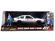 "Load image into Gallery viewer, ""INITIAL D"" 1986 Toyota Trueno AE86 w/ Takumi Figure 1:24 Scale - Jada Diecast Model"