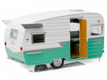 Load image into Gallery viewer, Shasta 15' AIRFLYTE Caravan Trailer 1:24 Scale - Greenlight Diecast Model (Green)