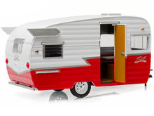 Load image into Gallery viewer, Shasta 15' AIRFLYTE Caravan Trailer 1:24 Scale - Greenlight Diecast Model (Red)
