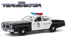 "Load image into Gallery viewer, ""The Terminator"" 1977 Dodge Monaco Metropolitan 1:24 Scale - Greenlight Diecast Model Car"