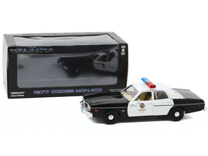 """The Terminator"" 1977 Dodge Monaco Metropolitan 1:24 Scale - Greenlight Diecast Model Car"