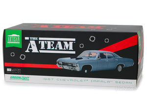 """A-Team"" 1967 Chevy Impala Sedan 1:18 Scale - Greenlight Diecast Model Car (Blue)"