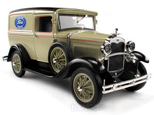 "Load image into Gallery viewer, 1931 Ford Model A Delivery Van ""Ford Genuine Parts"" 1:18 Scale - Signature Diecast Model (Cream)"